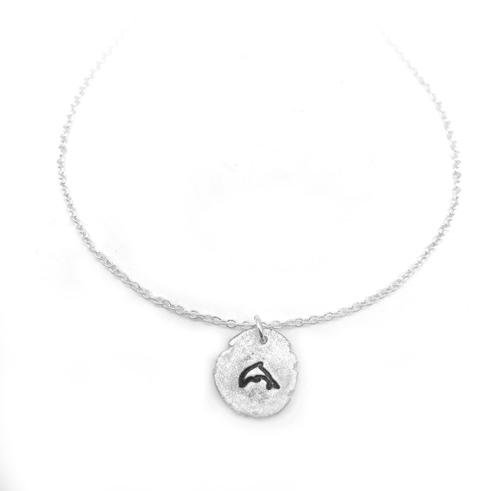 Pure Silver Dolphin Necklace Nugget Beach Jewelry