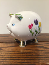 Hand-painted Piggy Bank - Red Bank Artisan Collective jewelry art vintage recycled Baby Gift, Susan's Art