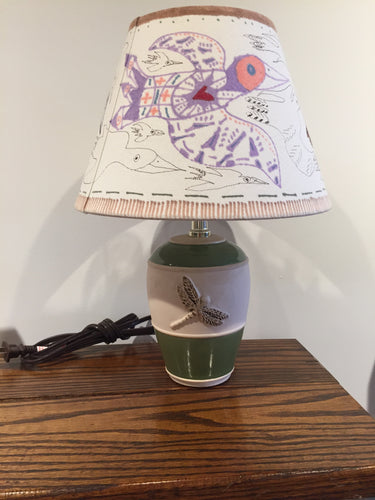 Small Bird Lamp shade - Red Bank Artisan Collective jewelry art vintage recycled Lamp Shades, Tim Aanensen
