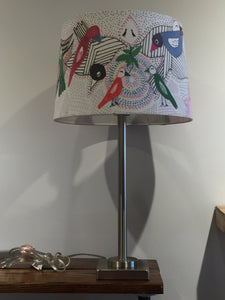 Large Lamp bird lampshade - Red Bank Artisan Collective jewelry art vintage recycled Lamp Shades, Tim Aanensen