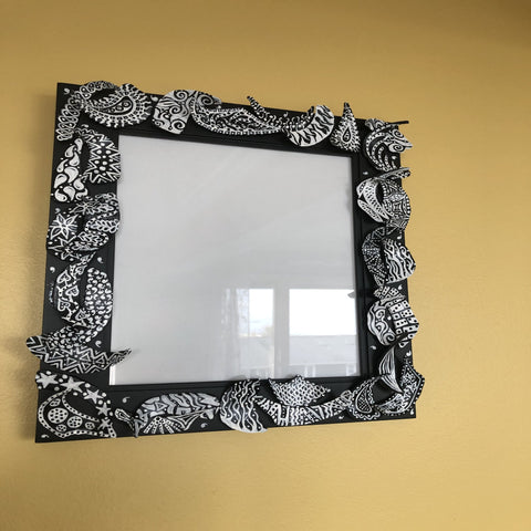Clam shell mirrors by Central NJ artist E! Designs