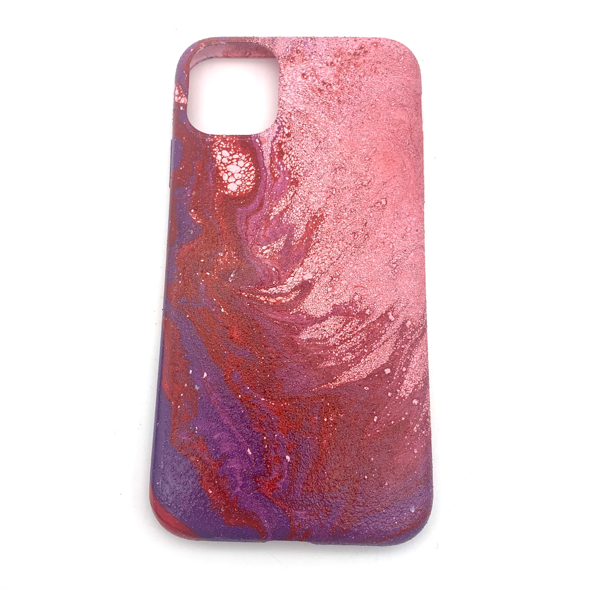 Hydro Dipped Phone Cases in Red Pink and Purple   - iPhone 11