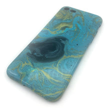 Hydro Dipped Phone Cases in Green Blue Yellow and Black - iPhone 7, iPhone 8, iPhone SE (2020)