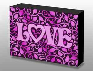 Purple Love Art Box Panel