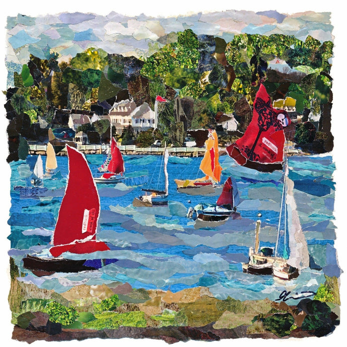 Red Sails On The Navesink Prints