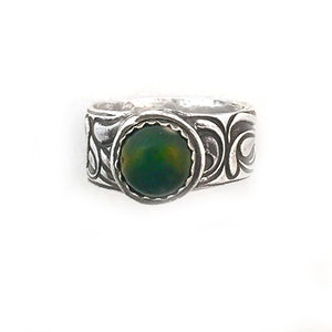 Ocean Jasper Ring - Red Bank Artisan Collective jewelry art vintage recycled Ring, Aries Artistic Jewelry