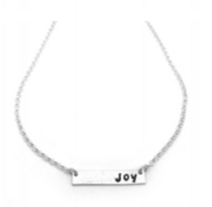 Joy bar necklace sterling silver jewelry by NJ artist