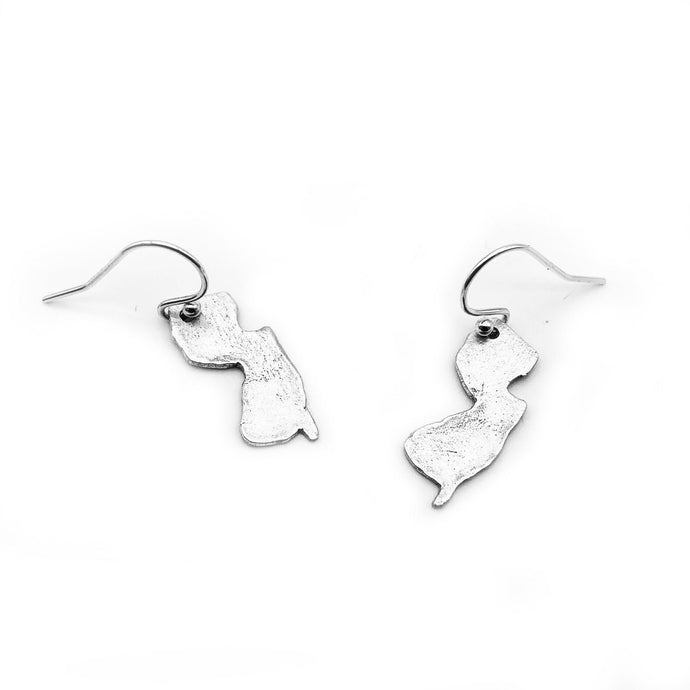 Sterling Silver NJ Earrings, Heart Earrings
