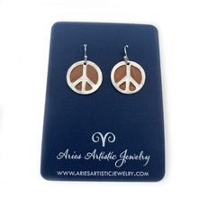 Copper Peace Sign Earrings Peace & Love Jewelry