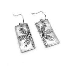 Sterling Silver Mandala Earrings Abstract Design