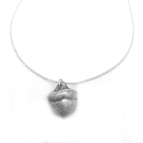 Fine Silver Acorn Jewelry Winter Necklace Nature Lover