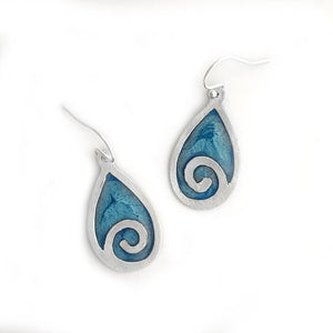 Ocean Wave Earrings Beach Jewelry
