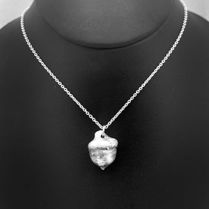 Tiny Fine Silver Acorn Necklace Winter Jewelry Nature Lover