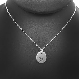 Sterling Silver Nugget Sun Necklace Nature Jewelry