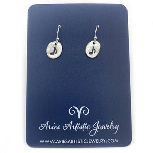 Fun Round Silver Music Note Earrings Music Jewelry