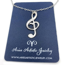Sterling Silver Music Note Necklace Music Jewelry