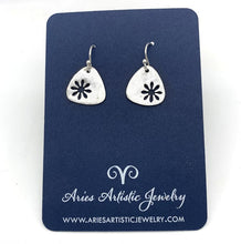 Triangular Snowflake Earrings with Abstract Design