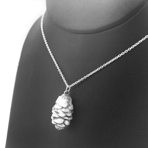 Fine Silver Pine Cone Necklace Winter Jewelry Nature Lover
