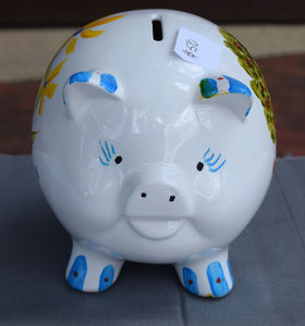 Hand-painted Piggy Bank