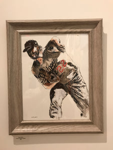 Clayton Kershaw Dodger #22 - Red Bank Artisan Collective jewelry art vintage recycled Sports Art, Steve Schiro