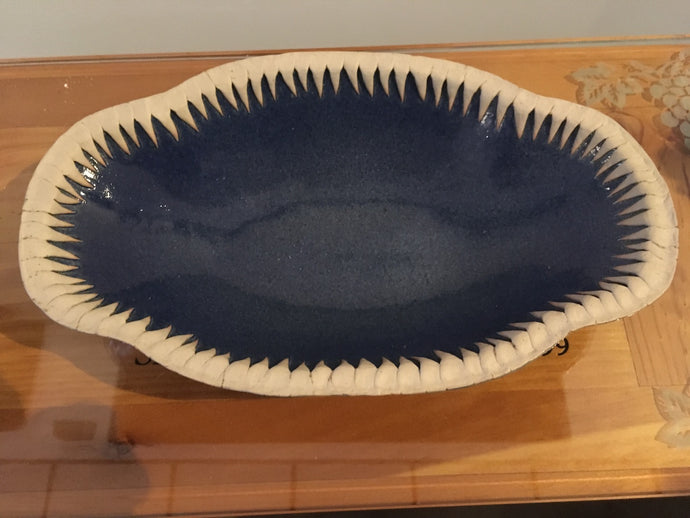 Pottery Spike Rim Bowl - Red Bank Artisan Collective sells jewelry art vintage recycled Pottery, Spondylus Clay