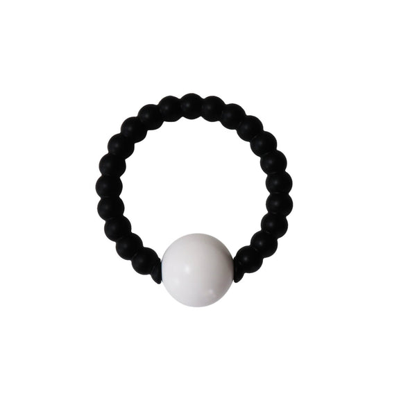 Black + White Rattle Teether - My Everything