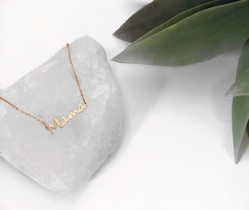 Mama Necklace | Rose Gold