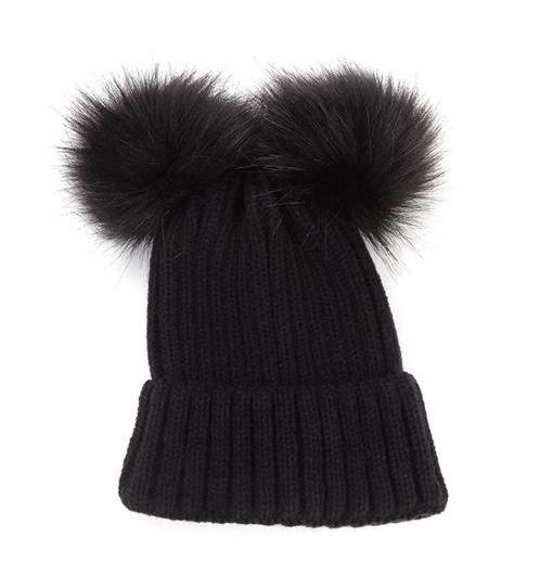 Winter Pom Pom Hat | Black