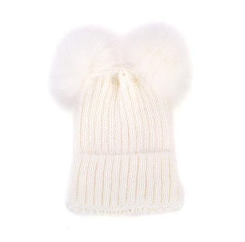 Winter Pom Pom Hat | Off White