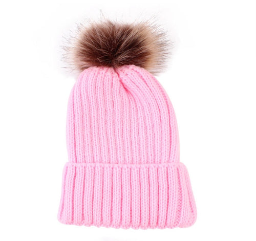 Winter Pom Hat | Pink