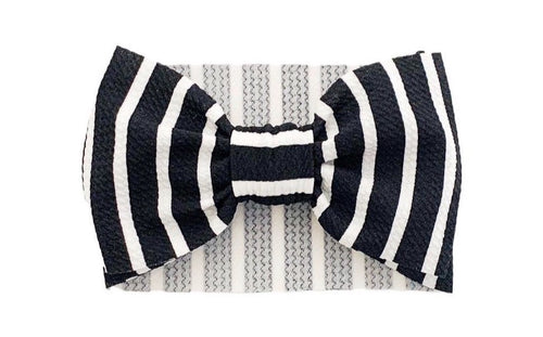 Big Bella Wrap | Black + Ivory Stripe