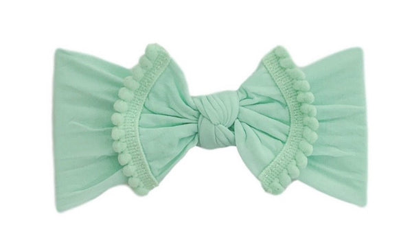Pom Pom Everything Knot | Mint