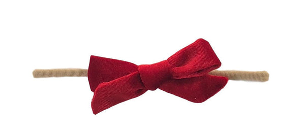 Velvet Skinny Bow | Red