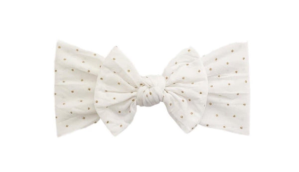 Glitter Dot Everything Knot | White/Gold