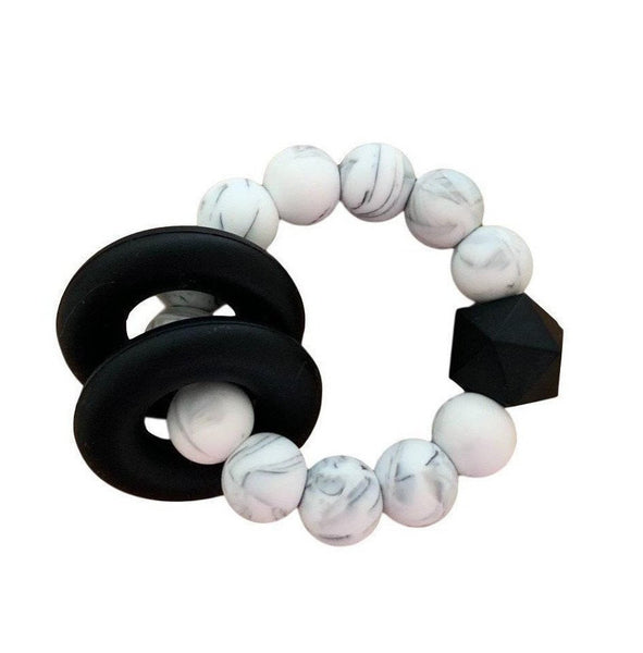 Halo Teether | Marble + Black