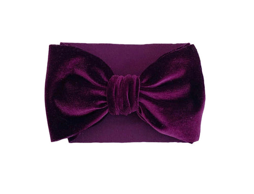 Velvet Big Bella Wrap | Eggplant