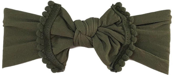 Pom Pom Everything Knot | Army Green