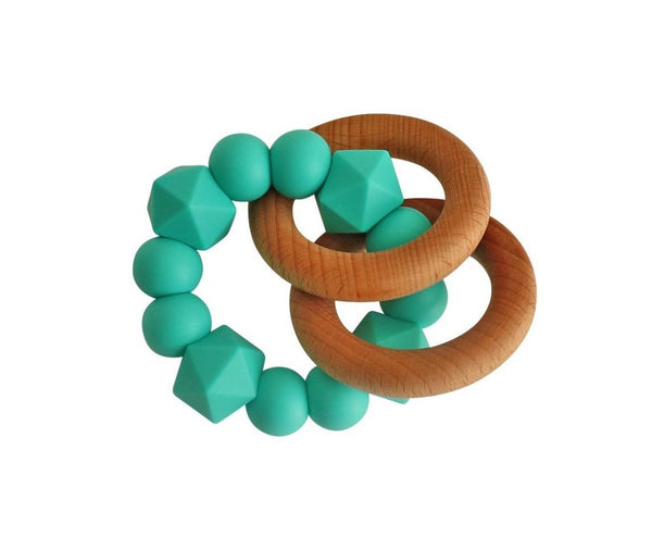 Jewel Rattle Teether | Turquoise