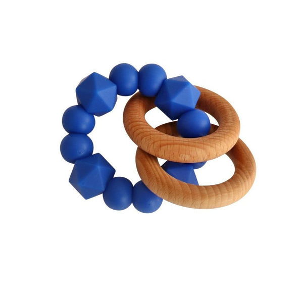 Jewel Rattle Teether | Royal Blue