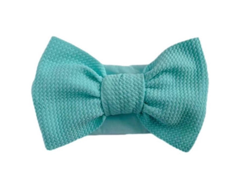 Big Bella Knot on Nylon | Aqua