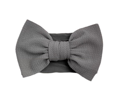 Big Bella Knot on Nylon | Charcoal