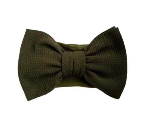 Big Bella Knot on Nylon | Army Green