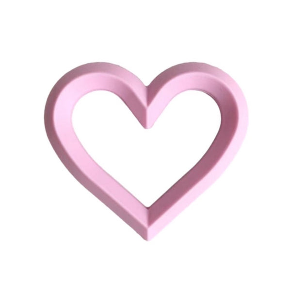Heart Teether | Pink