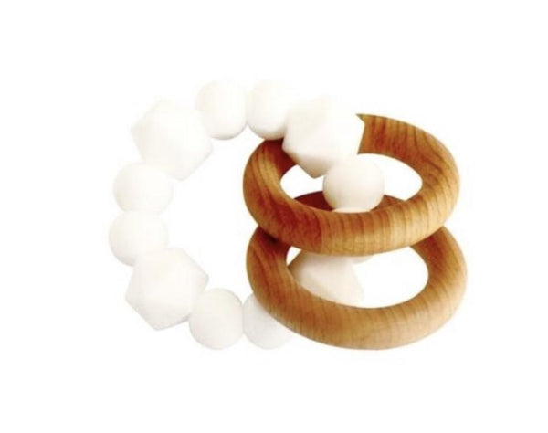 Jewel Rattle Teether | White
