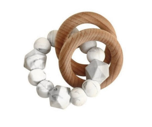 Jewel Rattle Teether | Marble