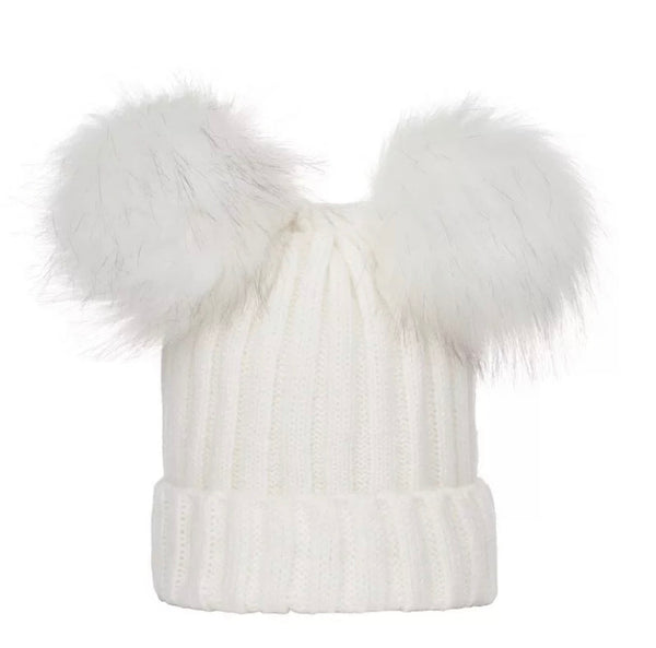 Pom Pom Winter Hat | Ivory