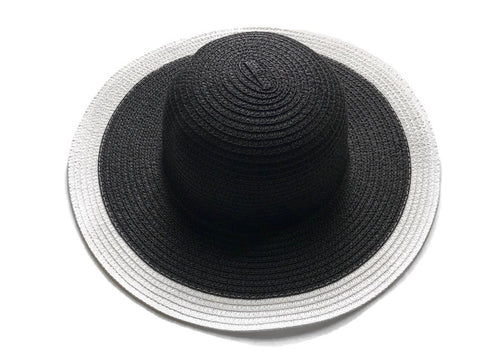 Floppy Sun Hat | Black + White