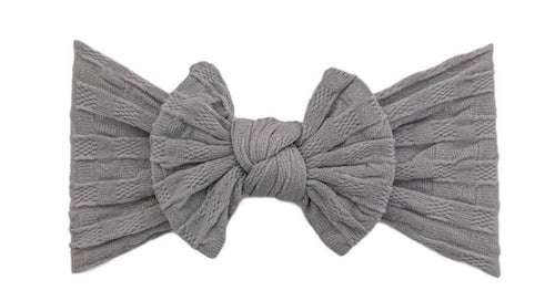 Everything Waffle Knot | Charcoal