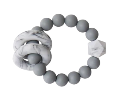 Halo Teether | Gray + Marble