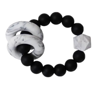 Halo Teether | Black +  Marble